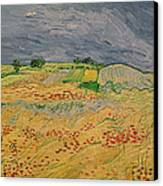 Plain At Auvers Canvas Print by Vincent Van Gogh