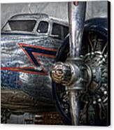 Plane - Hey Fly Boy  Canvas Print by Mike Savad