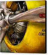 Plane - Pilot - Prop - Twin Wasp Canvas Print by Mike Savad