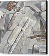 Plasterer Tools 2 Canvas Print by Anke Classen