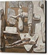 Plasterer's Tools 2 Canvas Print by Anke Classen