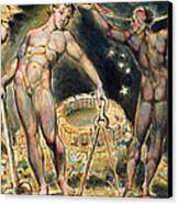 Plate 100 From Jerusalem Canvas Print by William Blake