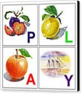 Play Art Alphabet For Kids Room Canvas Print by Irina Sztukowski