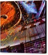 Play It Again Sam Digital Guitar And Banjo Art By Steven Langston Canvas Print by Steven Lebron Langston