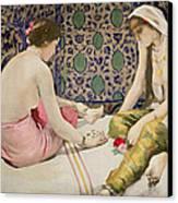 Playing Knucklebones Canvas Print by Paul Alexander Alfred Leroy