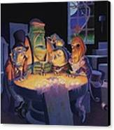 Poker Buddies Canvas Print by Richard Moore