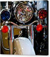 Police Harley Canvas Print by David Patterson