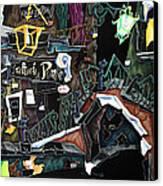 Ponte Del Megio - Venice Fine Art Collage  Canvas Print by Arte Venezia