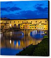 Ponte Vecchio Reflection Canvas Print by Inge Johnsson