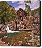 Pool Below The Mill Canvas Print by Adam Jewell