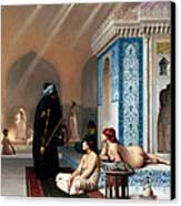 Pool In A Harem Canvas Print by Munir Alawi