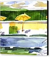 Poolside Canvas Print by Kip DeVore