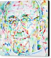 Pope Francis Watercolor Portrait Canvas Print by Fabrizio Cassetta