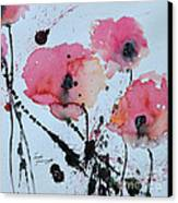 Poppies- Painting Canvas Print by Ismeta Gruenwald