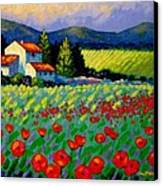 Poppy Field - Provence Canvas Print by John  Nolan