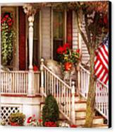 Porch - Americana Canvas Print by Mike Savad