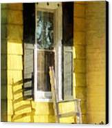 Porch - Long Afternoon Shadow Of Rocking Chair Canvas Print by Susan Savad