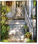 Porch - Westfield Nj - Grannies Porch  Canvas Print by Mike Savad