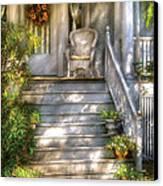 Porch - Westfield Nj - Grannies Porch  Canvas Print by Mike Savad