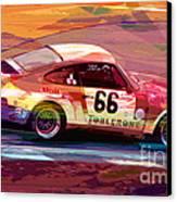 Porsche 911 Racing Canvas Print by David Lloyd Glover