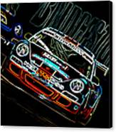 Porsche 911 Racing Canvas Print by Sebastian Musial