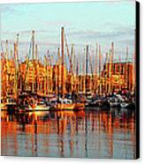 Port Vell - Barcelona Canvas Print by Juergen Weiss