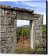 Portal Of Vineyard In Burgundy Near Beaune. Cote D'or. France. Europe Canvas Print by Bernard Jaubert