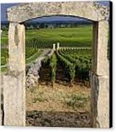 Portal  Of Vineyard.burgundy. France Canvas Print by Bernard Jaubert