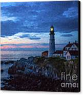 Portland Head Lighthouse Canvas Print by Diane Diederich