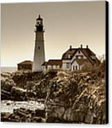 Portland Head Lighthouse Canvas Print by Joann Vitali