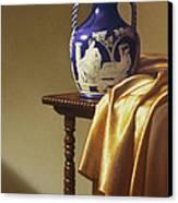 Portland Vase With Cloth Canvas Print by Barbara Groff