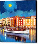 Portofino By Night Canvas Print by George Rossidis