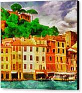 Portofino I Canvas Print by George Rossidis