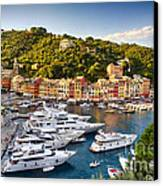 Portofino Summer Afternoon Canvas Print by George Oze