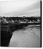 Portpatrick Village And Breakwater Scotland Uk Canvas Print by Joe Fox