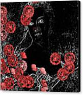 Portrait In Black - S0201b Canvas Print by Variance Collections