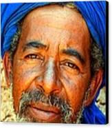 Portrait Of A Berber Man  Canvas Print by Ralph A  Ledergerber-Photography