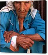Portrait Of A Berber Woman Canvas Print by Ralph A  Ledergerber-Photography