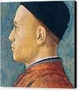 Portrait Of A Man Canvas Print by Andrea Mantegna