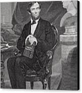Portrait Of Abraham Lincoln Canvas Print by Alonzo Chappel