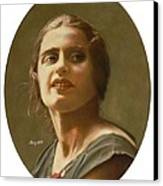 Portrait Of Ayn Rand Canvas Print by Robert Tracy