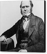Portrait Of Charles Darwin Canvas Print by English Photographer
