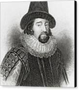 Portrait Of Francis Bacon Canvas Print by English School