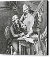 Portrait Of Franz Joseph Haydn Canvas Print by John Francis Rigaud