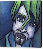 Portrait Of Kurt Canvas Print by Kamil Swiatek