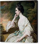 Portrait Of Miss Anne Dutton Canvas Print by Francis Cotes