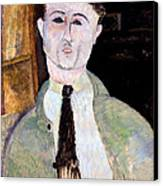 Portrait Of Paul Guillaume Canvas Print by Amedeo Modigliani