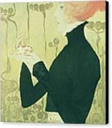 Portrait Of Sarah Bernhardt Canvas Print by Manuel Orazi
