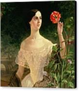 Portrait Of Sofia Andreyevna Shuvalova Canvas Print by Karl Pavlovich Bryullov