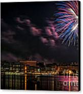 Portsmouth Nh Fireworks 2013 Canvas Print by Scott Thorp